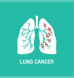 lung cancer logo icon design vector image