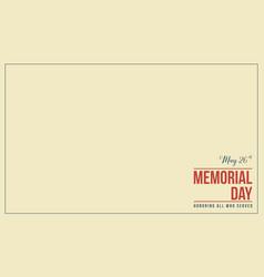Memorial day theme vector