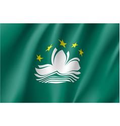 National flag of macau vector