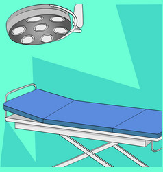 Operating room table and medical lighting vector