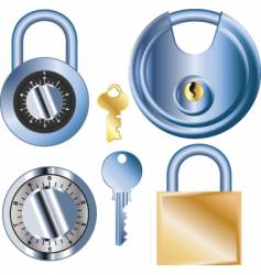 Pad locks vector