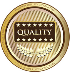 Quality gold icon vector