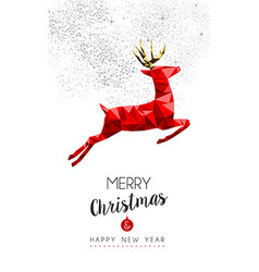 Red reindeer decoration for Christmas and New Year vector image vector image