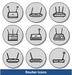 router light icons vector image vector image
