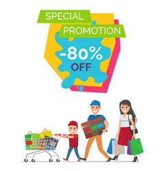 special promotion -80 banner vector image vector image