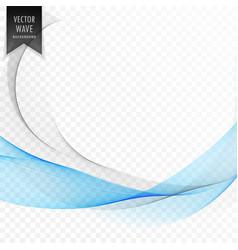 stylish blue wave shape background vector image vector image