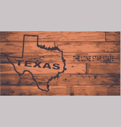 Texas map brand vector