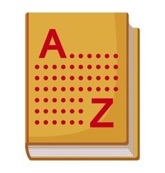 Translation book icon cartoon style vector image vector image