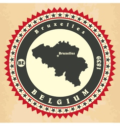 Vintage label-sticker cards of Belgium vector image