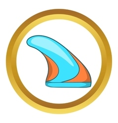 Surfing fin icon vector