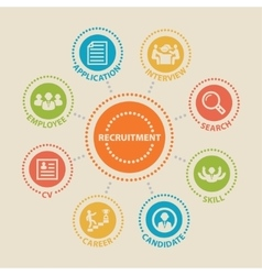Recruitment concept with icons vector