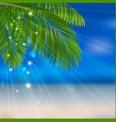 Sea sand palm vector