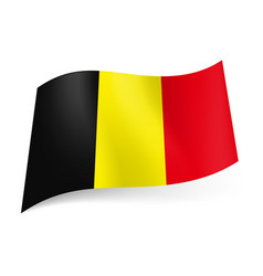 National flag of belgium black yellow and red vector