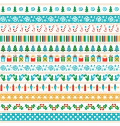 set of Christmas tape strips vector image