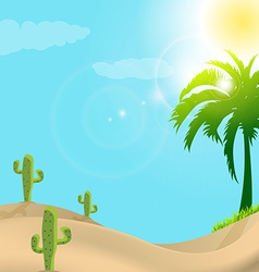 Desert scene in day light vector