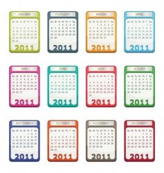 Calender for 2011 vector