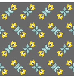 Retro floral pattern geometric seamless flowers vector
