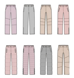 Down pants vector
