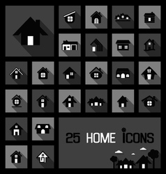 Home icons concepts vector