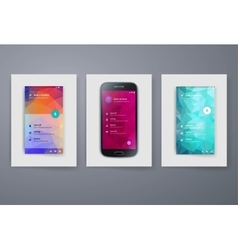 Modern mobile apps and phone cards design template vector
