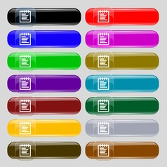 Notepad icon sign set from fourteen multi-colored vector