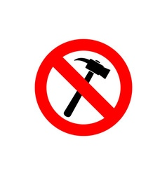 Stop hammer it is forbidden to knock frozen vector