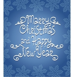 Merry christmas happy new year hand lettering vector