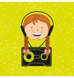 Children and technology design vector