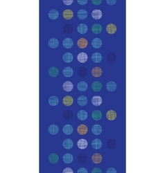 Abstract textile polka dots on blue vertical vector