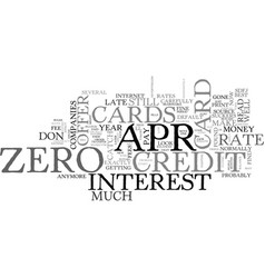 Apr credit cards make it possible to save money vector