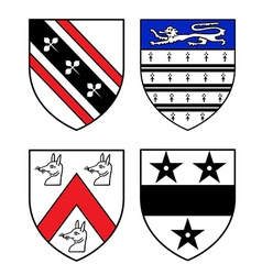 Authentic medieval heraldry shields vector