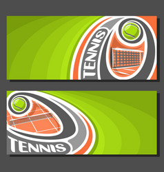 Banners for tennis vector