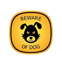 Beware of dog vector image vector image