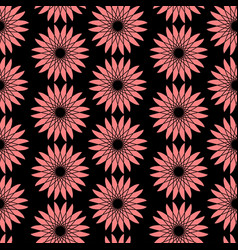 Bright floral seamless pattern modern vector