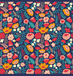 Colorful floral pattern seamless pattern vector