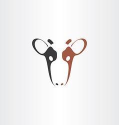 Cow icon logo symbol vector