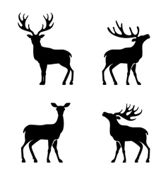 Deer collection - silhouette vector