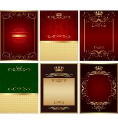 design background set vector image vector image