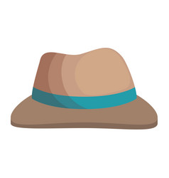 farmer hat isolated icon vector image vector image
