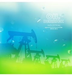 Green oil pump vector image vector image