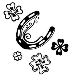 Horseshoe clover vector
