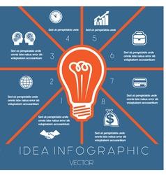 Idea business concept light bulb infographic 8 vector
