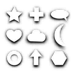 Isolated black and white color abstract dotted vector
