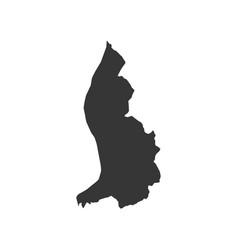 Liechtenstein map outline vector