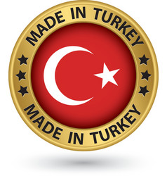 Made in turkey gold label vector