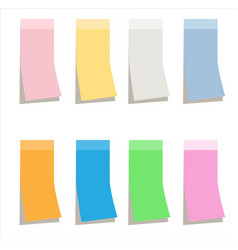 Multicolor sticky paper note on white background vector