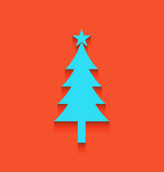 New year tree sign whitish icon on brick vector