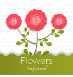 Paper flowers background with exotic flowers of vector