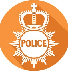 Police Badge Icon vector image vector image