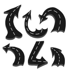 Road in arrows vector image